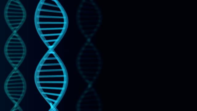 Futuristic rotating DNA strand. Genetic engineering scientific background. video