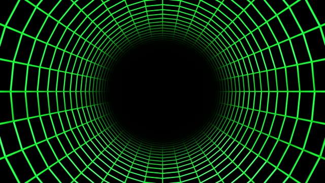 futuristic rotating wireframe tunnel. - spindelväv bildbanksvideor och videomaterial från bakom kulisserna