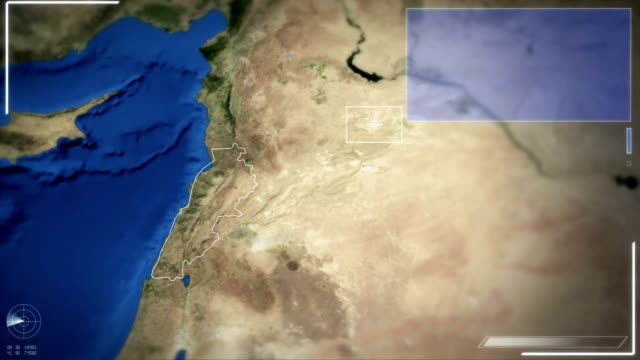futuristic satellite image view of beirut - lebanon 個影片檔及 b 捲影像
