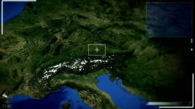 futuristische satelliten bild anzeigen von bern - kanton bern stock-videos und b-roll-filmmaterial