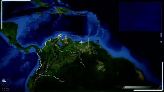 Futurista satélite imagen vista de Bogotá - vídeo