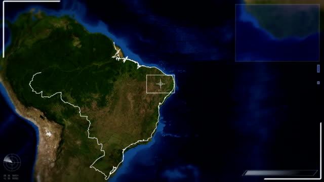 Futuristic Satellite Image View Of Brasilia video