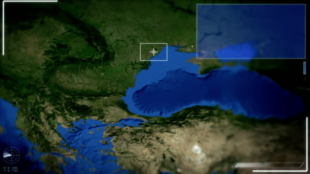 Futuristic Satellite Image View Of Bucharest video