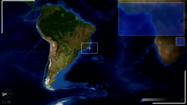 Futuristic Satellite Image View Of Buenos Aires video