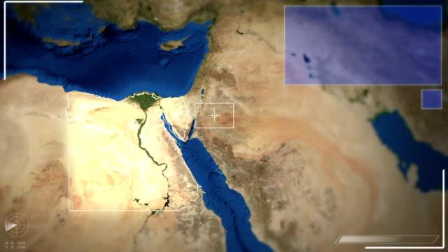 Futuristic Satellite Image View Of Cairo video