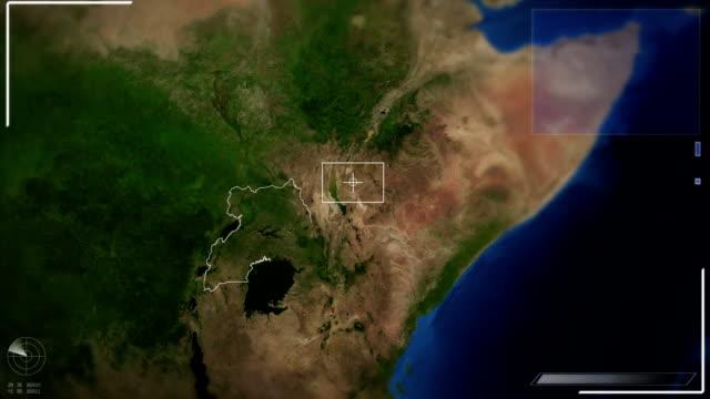 Futuristic Satellite Image View Of Kampala video