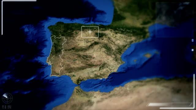 Futuristic Satellite Image View Of Lisbon video