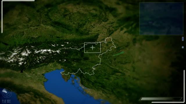 未来の衛星画像リュブリャナの眺め - スロベニア点の映像素材/bロール