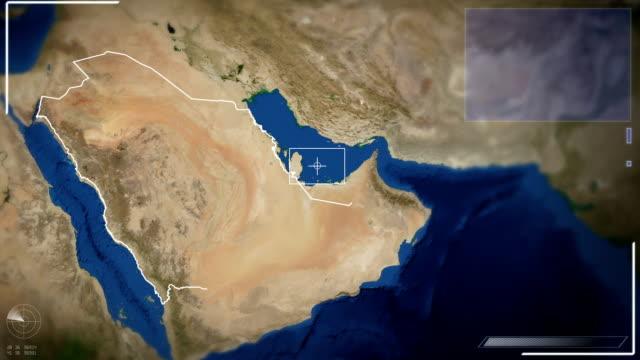 stockvideo's en b-roll-footage met futuristic satellite image view of riyadh - riyad