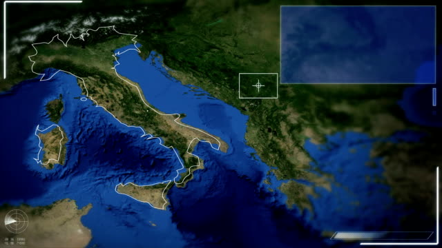 Futuristic Satellite Image View Of Rome video