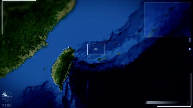 Futuristic Satellite Image View Of Taipei video