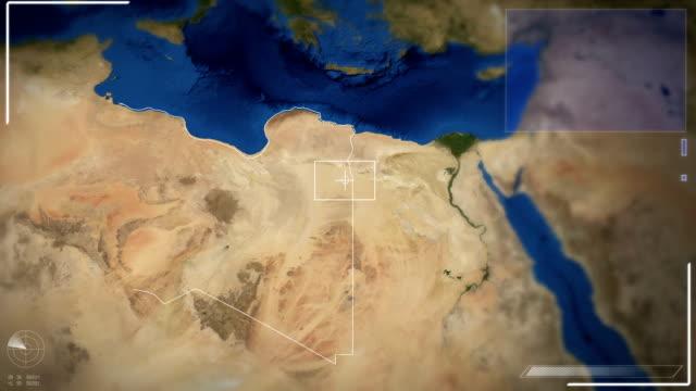 futuristic satellite image view of tripoli - earth from space bildbanksvideor och videomaterial från bakom kulisserna