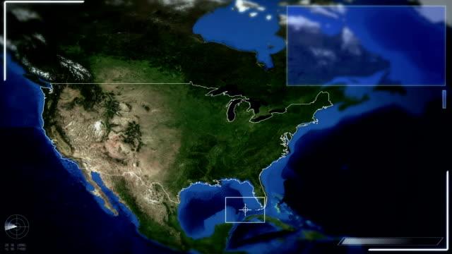 futuristic satellite image view of washington - usa map stock videos and b-roll footage