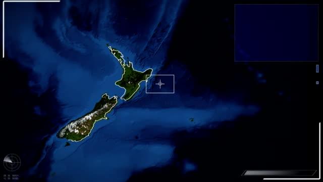 Futuristic Satellite Image View Of Wellington video