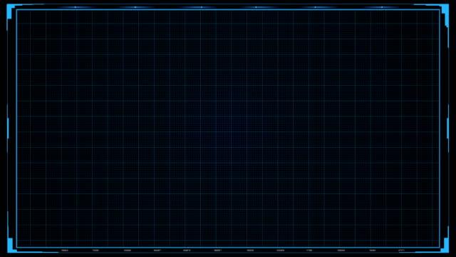 Futuristic Sci Fi HUD Grid Background Futuristic Sci Fi HUD Grid Background hud graphical user interface stock videos & royalty-free footage