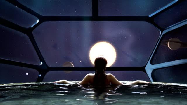 vidéos et rushes de méditation spa futuriste. métaphore de la transcendance - psychédélique