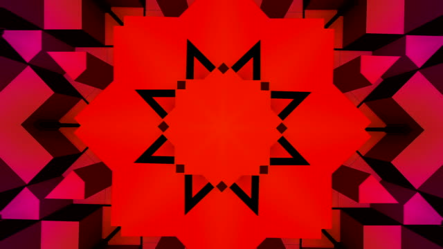 Futuristic star shaped 3D block background 3D Abstract digital background in HD resolution. 1980's and 1990's inspired floral pattern stock videos & royalty-free footage