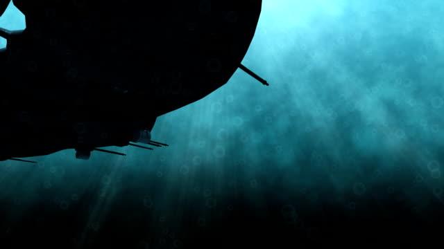 vidéos et rushes de futuriste scène sous-marin - armement