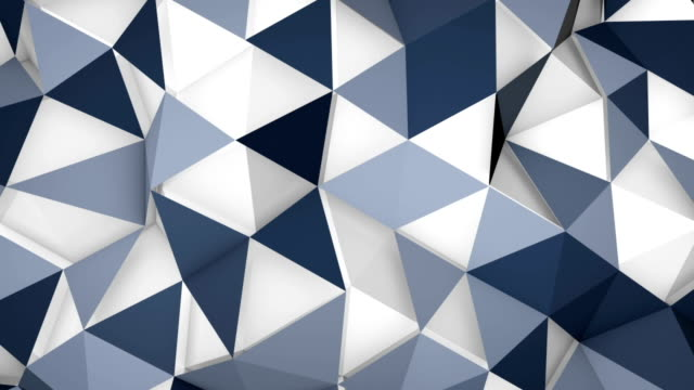 futuristic techno polygon surface loopable background video