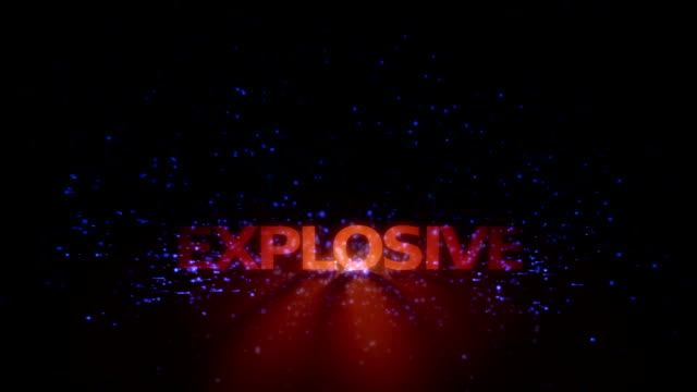 Futuristic technology light animation with text EXPLOSIVE, loop HD video