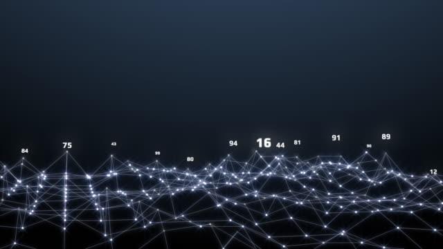 3d futuristisk teknik plexus geometrisk form digitala data komplex anslutning rörelse bakgrund. - nod bildbanksvideor och videomaterial från bakom kulisserna