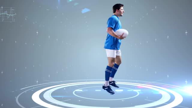 未来的な技術のアスリートの動きを追跡 - スポーツウェア点の映像素材/bロール