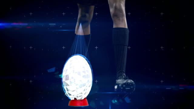 vídeos y material grabado en eventos de stock de tecnología futurista seguimiento de los movimientos de atletas - rugby