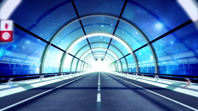 Futuristic tunnel. Space version. HD loop. video