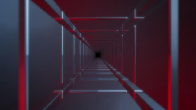 Futuristische Tunnelschleife – Rot und Blau – Video
