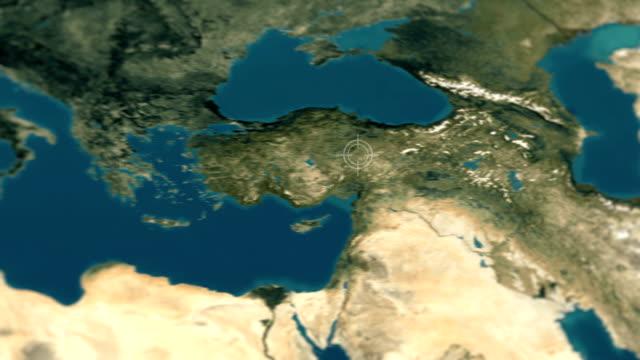 4k futuristiska turkiet satellitbild - ekvatorn latitud bildbanksvideor och videomaterial från bakom kulisserna