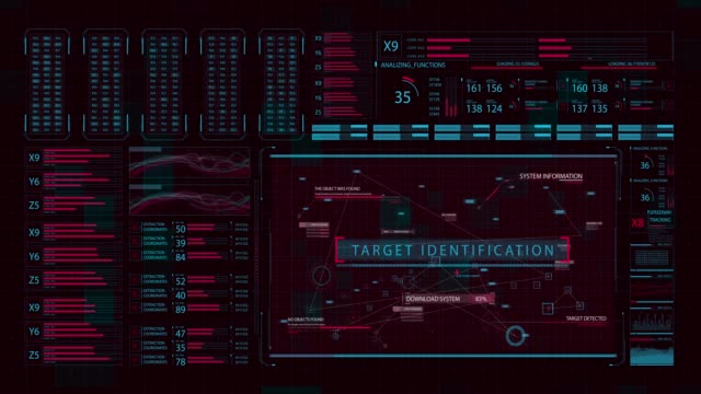 Futuristic user interface with HUD and infographic elements Futuristic user interface with HUD and infographic elements hud graphical user interface stock videos & royalty-free footage