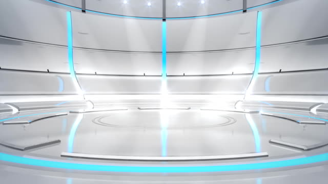 Futuristic white/cyan neon background video