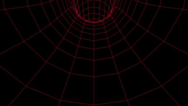 futuristic wireframe tunnel video