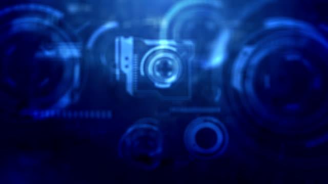 UI Gadget Background - Blue (HD 1080) video