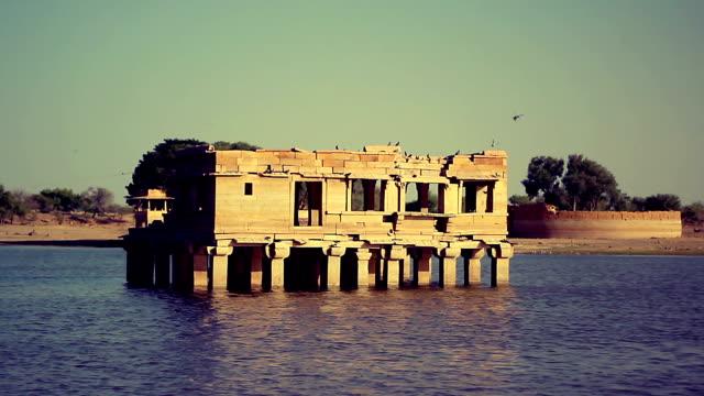 Gadsisar Lake's temples and shrines, Jaisalmer, India. video