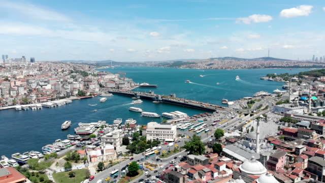 Istanbul'da Galata Köprüsü video