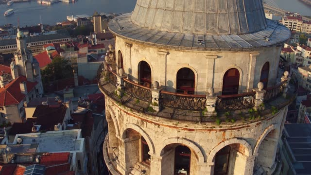 Galata tower 11 Sunrise Galata tower istanbul stock videos & royalty-free footage