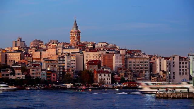 HD: Galata Tower; Istanbul, Turkey - Time Lapse video