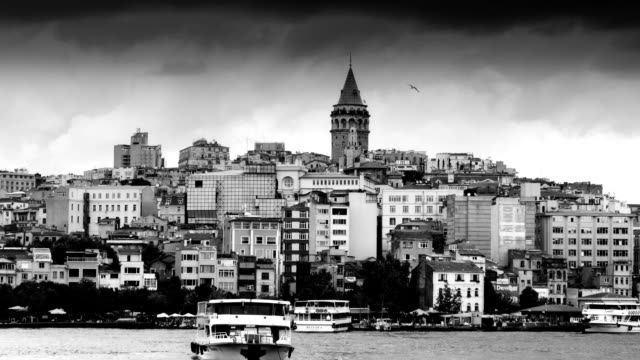 HD: Galata Tower  ** Time Lapse ** video