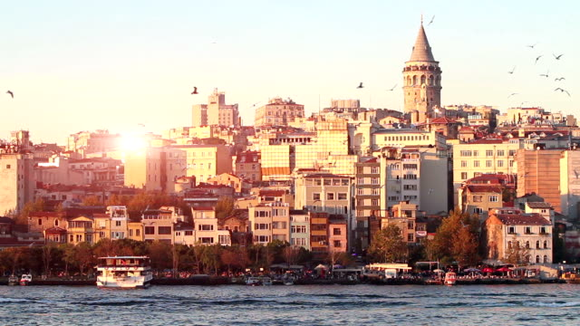 HD: Galata Tower Pro Bandwidth Recording. turkey stock videos & royalty-free footage