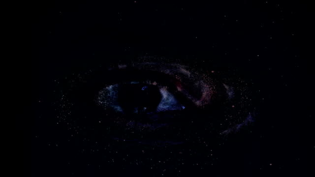 Galaxie Inside human eye video