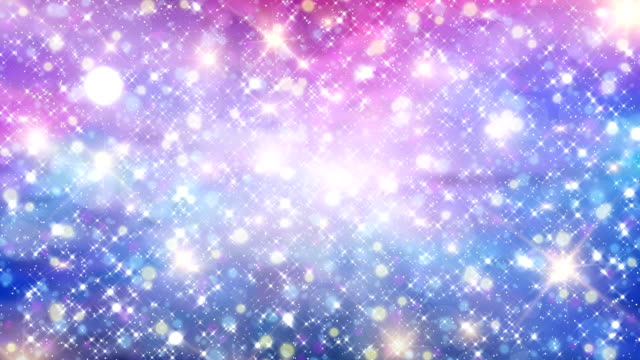 galaxy background and pastel color.the unicorn in pastel sky with rainbow. pastel clouds and sky with bokeh . cute bright candy background . fantasy animation background. - kawaii video stock e b–roll