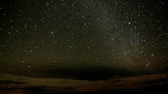 Galaxy by night, time lapse video