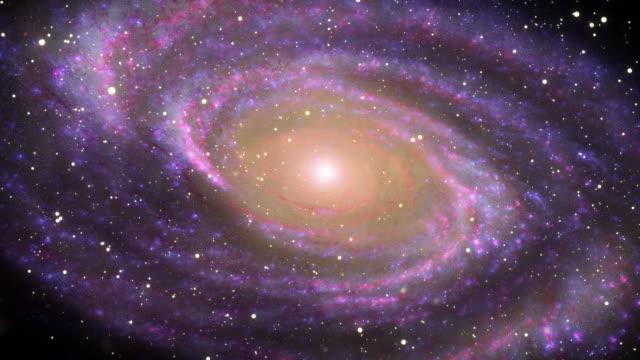galaxy di spazio intenso - spirale ricciolo video stock e b–roll