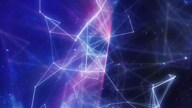 Galaxy Lines - 4K Plexus styled loop video