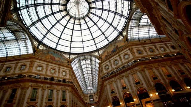 「ギャレリアヴィットリオエマヌエーレ ii 、ミラノ - 美術館点の映像素材/bロール