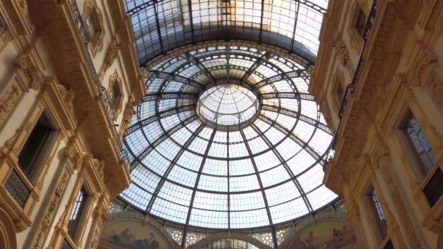 Galleria Vittorio Emanuele II Galleria Vittorio Emanuele II, Milan - Italy italian architecture stock videos & royalty-free footage