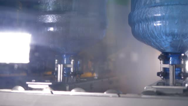 5 gallon bottle washing process. video