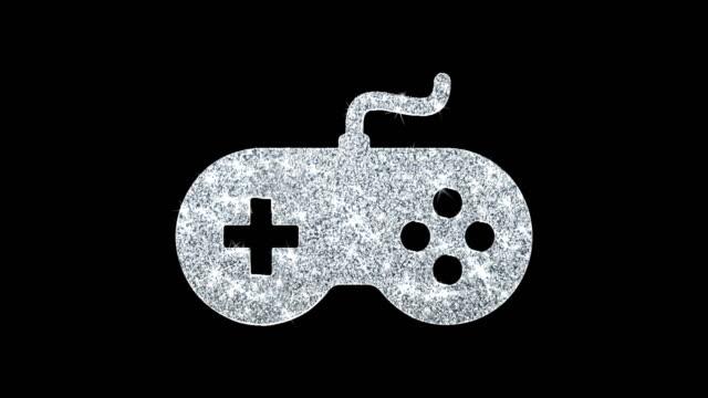 GamController joystick epad Game Icon Shining Glitter Loop Blinking Particles .