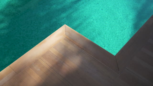A game of glare and shadow on the water in the pool A game of glare on green water in the pool. Glare on the ripples on the background of the pixel tiles at the bottom interestingly refract the light. The edge of the pool resembles a mountain caustic light effect stock videos & royalty-free footage